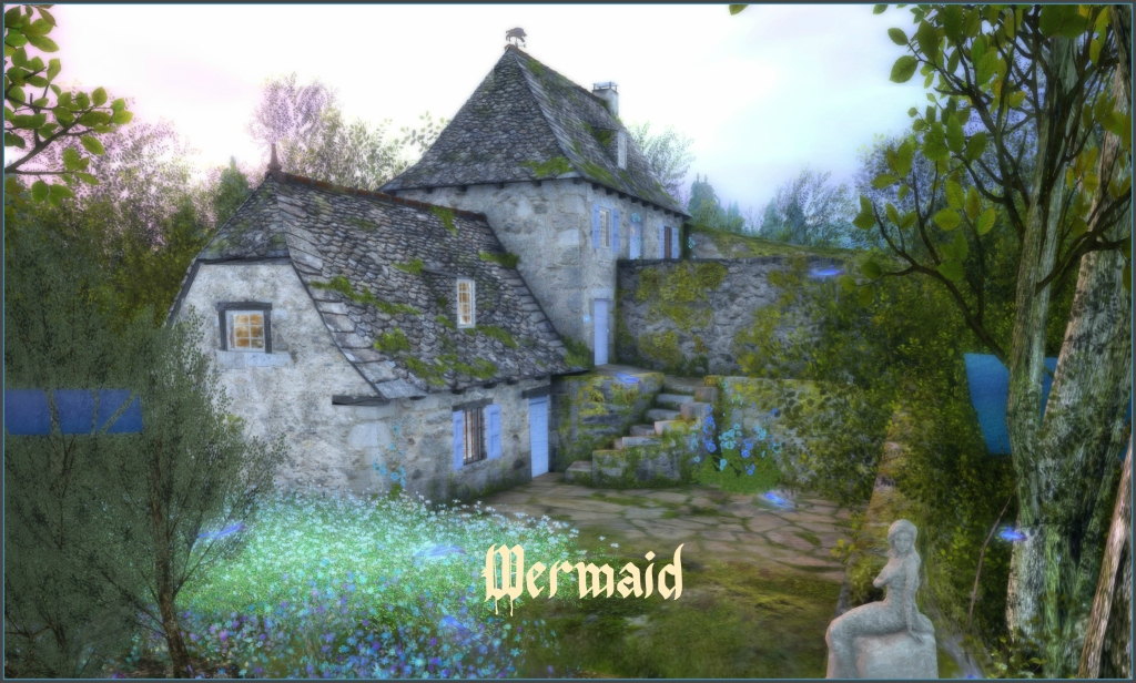 Mermaid Cottage title sign